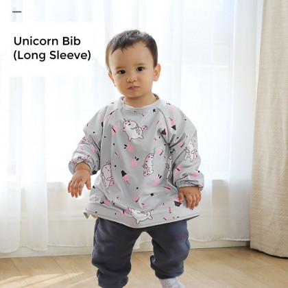 Unicorn Bib and Tray Kit (Long Sleeve)