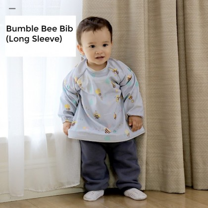 Bumble Bee Bib and Tray Kit (Long Sleeve)