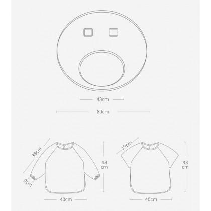 Bumble Bee Bib and Tray Kit (Short Sleeve)